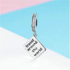 Travel Around the World Passport Charm Sterling Silver | Loulu Charms