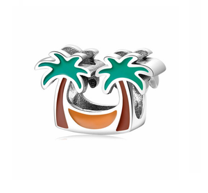 Vacation Palm Trees Charm Sterling Silver | Loulu Charms
