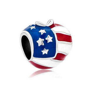 Big Apple USA Flag Charm fit Charm Bracelets | Loulu Charms