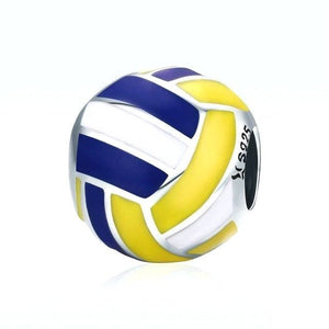 Volleyball Charm Sterling Silver