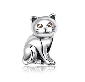 Cat Charm Sterling Silver