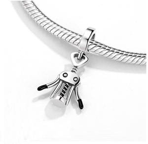Wine Opener Charm Sterling Silver | Loulu Charms
