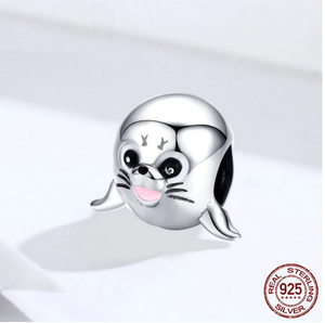 Baby Seal Charm Sterling Silver