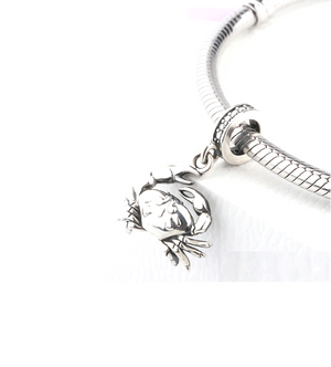 Crystal Crab Dangle Charm Silver fit Charm Bracelet | Loulu Charms