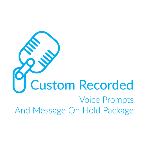 Custom Recorded Voice Prompt &  Message On Hold Package