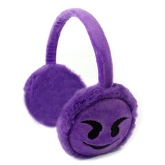 Purple Devil Emoji earmuff