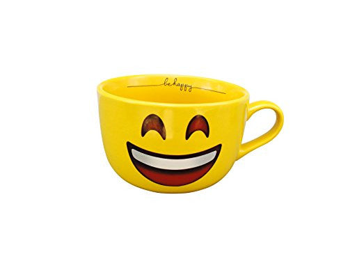 Emoji Yellow 32 OZ Happy Face Mug