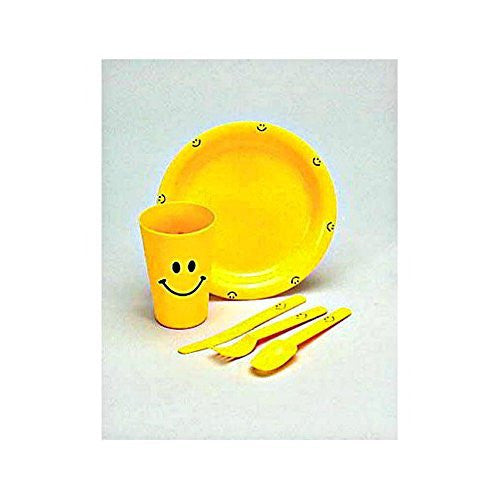 Kid's Plastic Emoji Face Meal Set