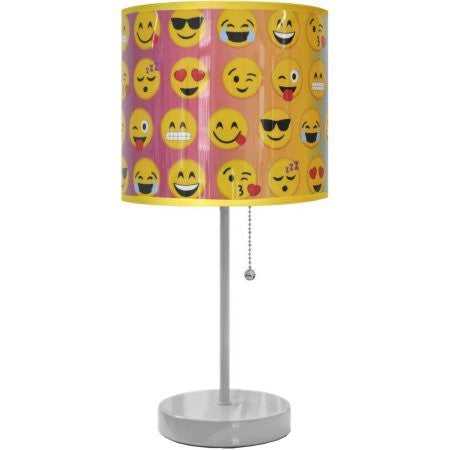 Emoji Pals All Over Stick Lamp | Metal base