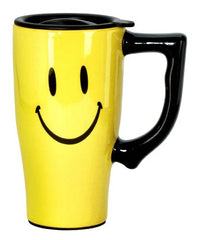 Emoji Face Travel Mug, Yellow