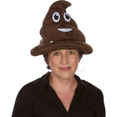 Emoji Light Up Emoji Poop Hat- 12 Inches