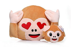 Pair of Cute Emoji Monkey Emoji Pillows
