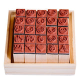 Emoji Stamp Set - Includes 25 Wood & Rubber Stamps