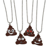 Poop Emoji cap and 4 poop necklaces + 12 Emoji reword stickers