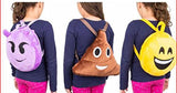 Funky Emoji Plush Backpack Shoulder Bag