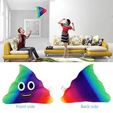 Rainbow Emoji Pillow Round Cushion Soft Toy, 35 x 30 x 10 cm