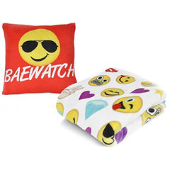 Emoji Throw Blanket and Pillow Set - Baewatch