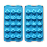 JEWSUN Emoji Cute Poop Candy Mold Chocolate Mold Ice Cube Trays (set of 2)