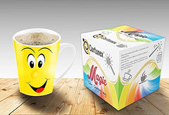 Magic Emoji Coffee MugsWith Heat Sensitive Color Changing Effects
