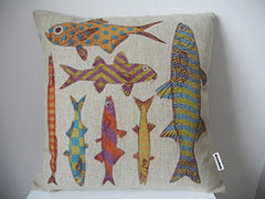 "Throw Pillow Case Decorative Cushion Cover Pillowcase Color Fishes 18 ""X18 """