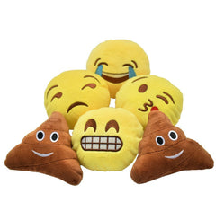 Emoji Smiling & Poop Set of 6