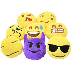 Mixed Emoji Pillow Setof 8-3.9 x 1.2 x 3.9 inches