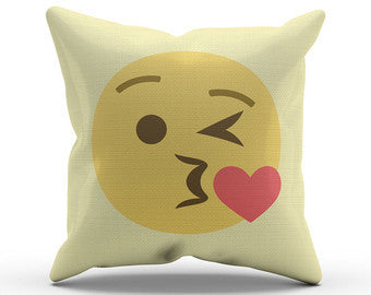 Kiss sequin Emoji Pillow