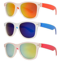 4567-7 kids plastic sunglasses with color mirror lenses