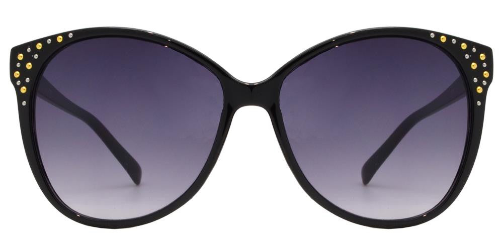 Dynasol Eyewear - Wholesale Sunglasses - 1616 - Horn Rimmed Cat Eye with Studs Plastic Sunglasses - sunglasses