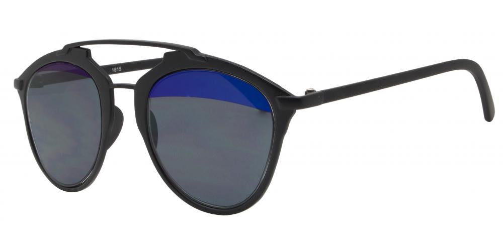 Wholesale - 1815 - Two Toned Bulk Sunglasses with Brow Bar - Dynasol Eyewear