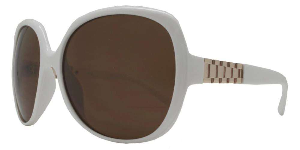 Wholesale - 1843 - Women's Square Sunglasses with Watch Accent - Dynasol Eyewear