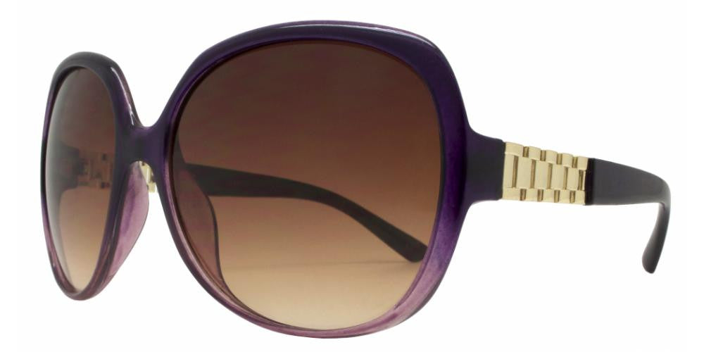 1843 - Women's Square Sunglasses with Watch Accent - Dynasol Wholesale Sunglasses