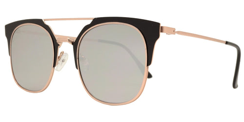 Wholesale - 1885 - Square Horn Rimmed Sunglasses with Flat Lens - Dynasol Eyewear