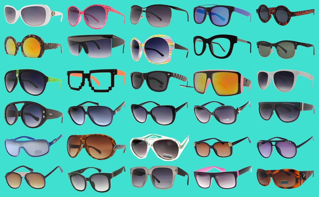 Bulk Deal Fashion Sunglasses (50+ Different Styles - Variation of Colors, 300 Pieces) - Free Shipping