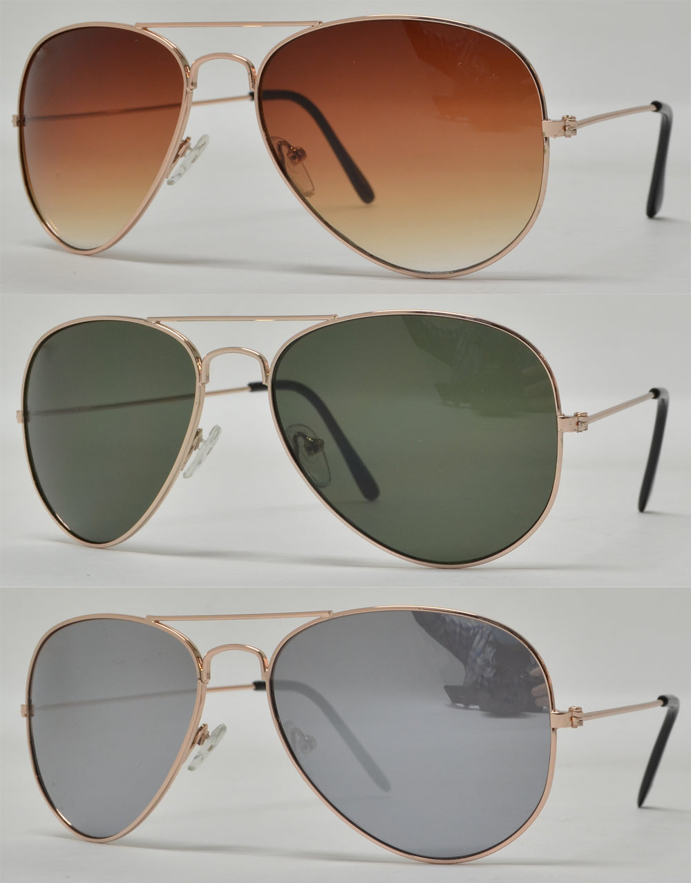 3025 - Classic Metal Aviator Sunglasses