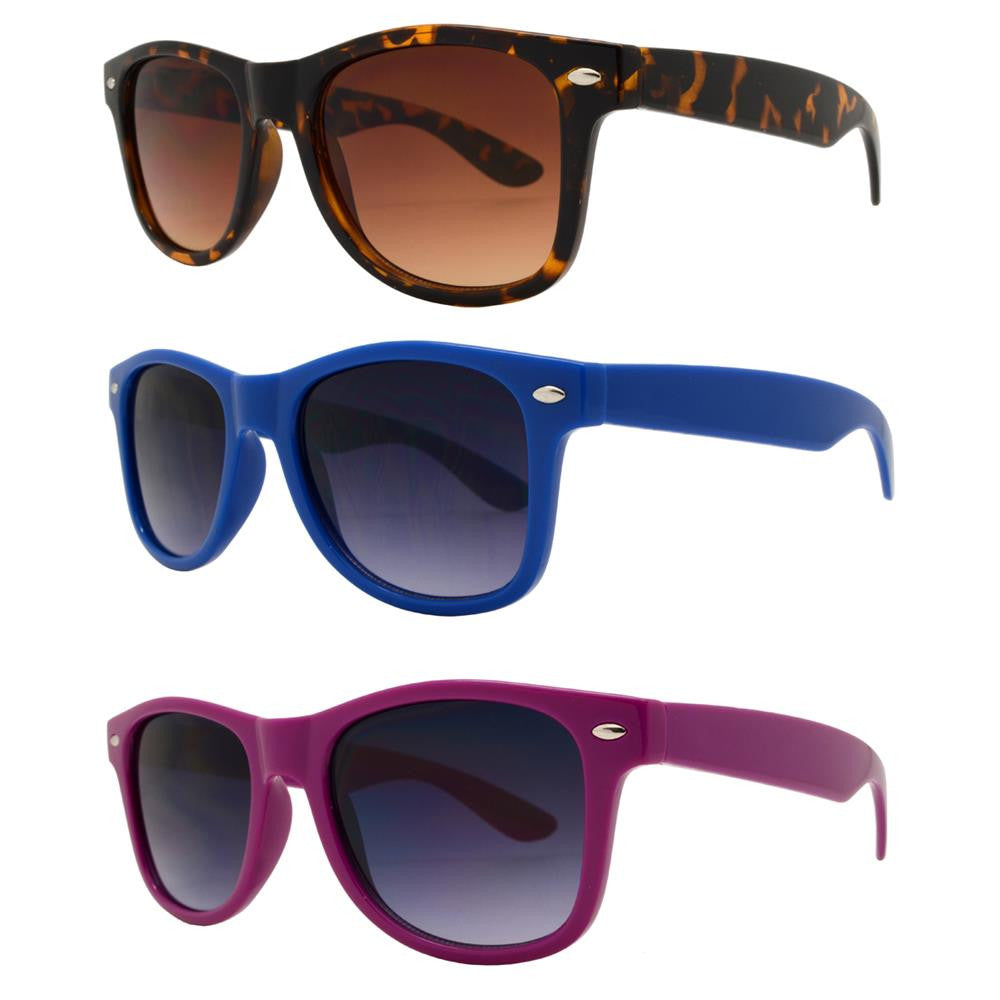 4567-3 - Kids Horn Rimmed Full Color Sunglasses