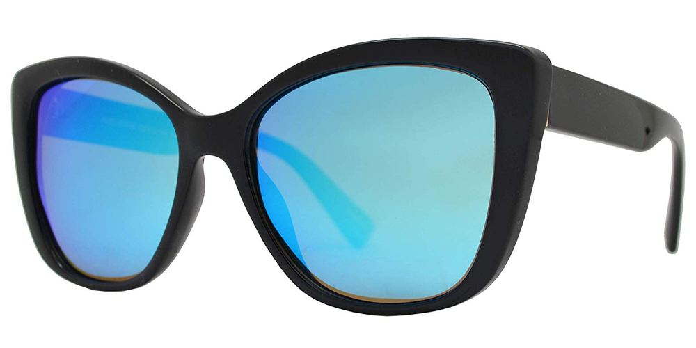 PL Augustine - Polarized Women Cat Eye Plastic Sunglasses