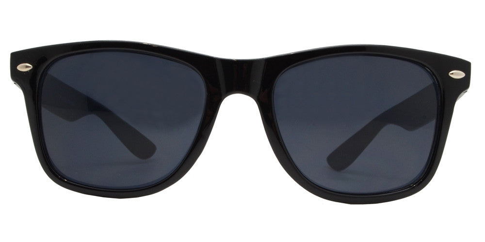Wholesale - 7110 Black SD - Classic Horn Rimmed Super Dark Lens Black Plastic Sunglasses - Dynasol Eyewear