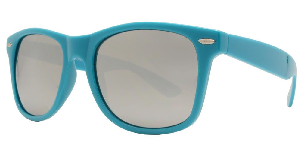 Wholesale - 7110 M - Classic Horn Rimmed Mirror Multi Color Plastic Sunglasses - Dynasol Eyewear