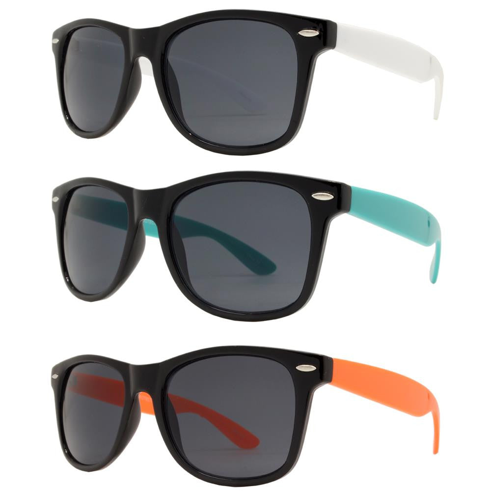 Dynasol Eyewear - Wholesale Sunglasses - 7115 SD - Classic Horn Rimmed Super Dark Lens Two Tone Plastic Sunglasses - sunglasses