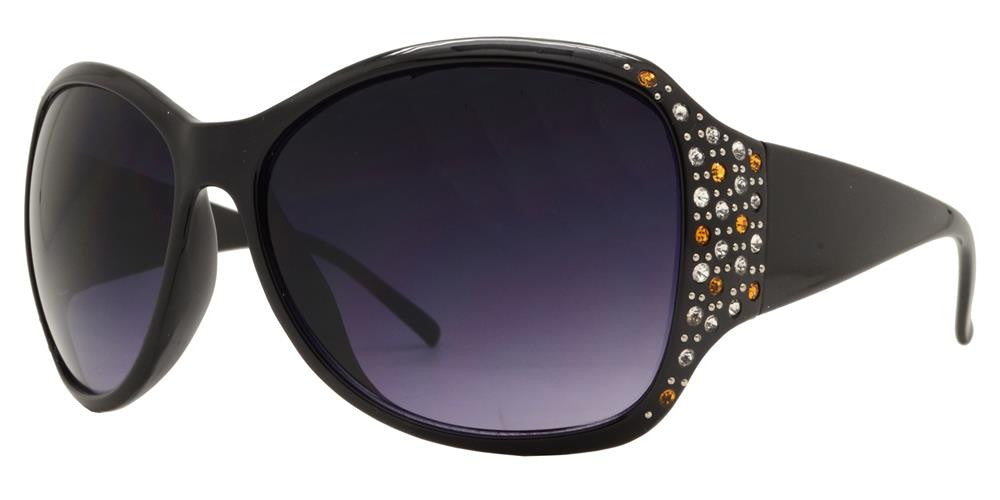 Wholesale - 7378 - Large Chunky Sunglasses with Rhinestones - Dynasol Eyewear