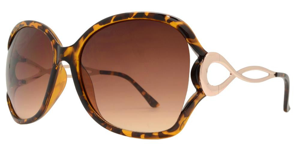 Wholesale - 7567 - Butterfly Sunglasses with Metal Loop Cut Out Temple - Dynasol Eyewear