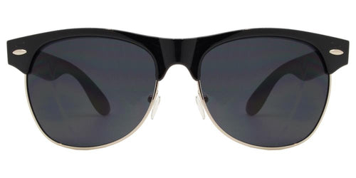 Wholesale - 7581 - Retro Horn Rimmed Wholesale Sunglasses with Smoke Lens - Dynasol Eyewear