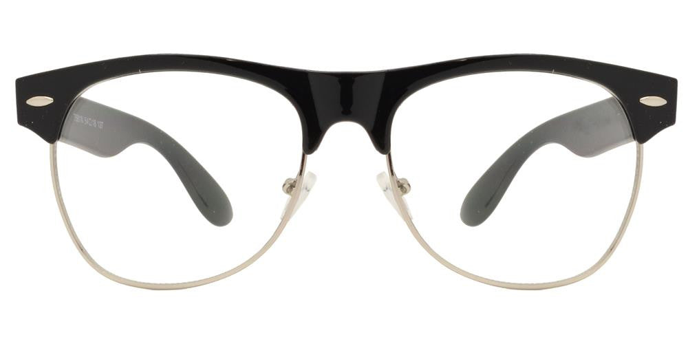 Wholesale - 7581 N - Retro Horn Rimmed Sunglasses with Clear Lens - Dynasol Eyewear