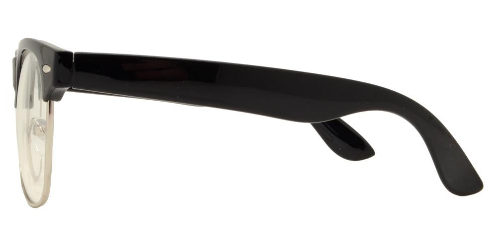 Dynasol Eyewear - Wholesale Sunglasses - 7581 N - Retro Horn Rimmed Sunglasses with Clear Lens - sunglasses