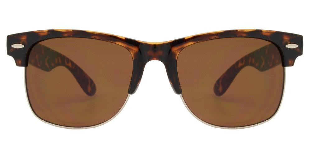 Wholesale - 7583 - Retro Horn Rimmed Bulk Sunglasses with Smoke Lens - Dynasol Eyewear