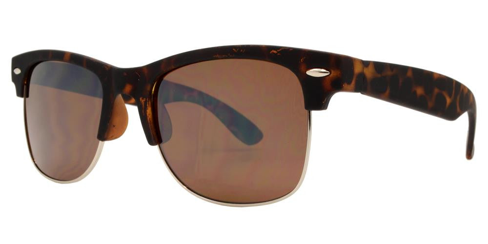 Dynasol Eyewear - Wholesale Sunglasses - 7583 SFT - Retro Horn Rimmed Soft Rubber Sunglasses with Smoke Lens - sunglasses