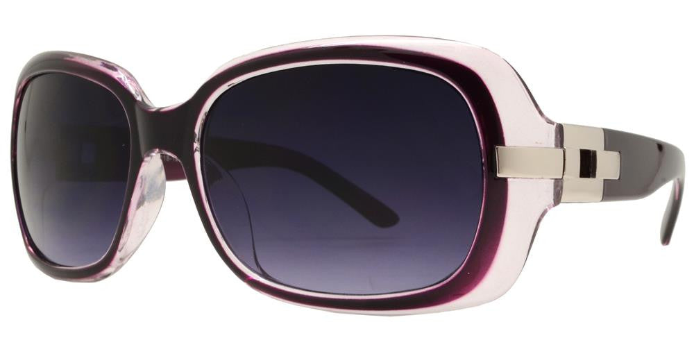 Wholesale - 7585 - Women's Fashion Metal Accent Sunglasses - Dynasol Eyewear