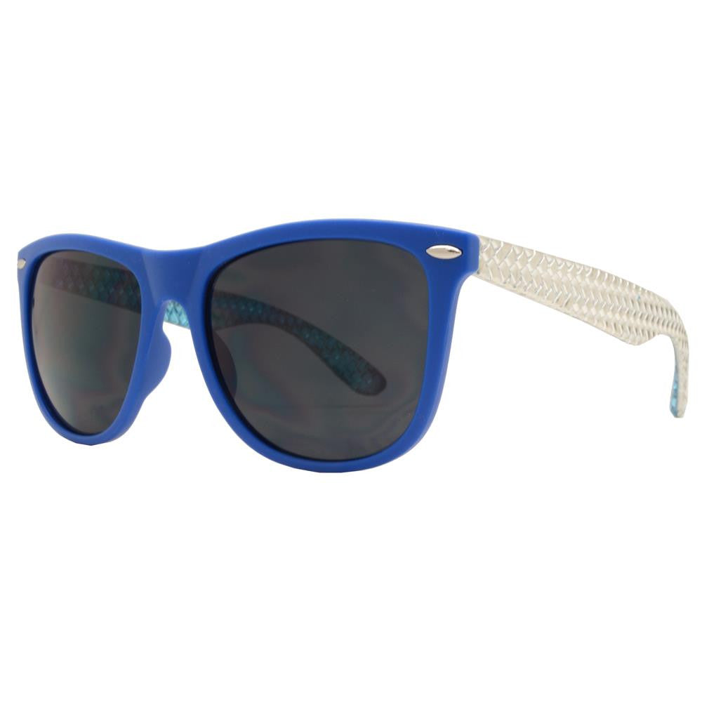 Wholesale - 7599 SMK - Classic Horn Rimmed Two Tone Decorative Temple Matte Plastic Sunglasses - Dynasol Eyewear