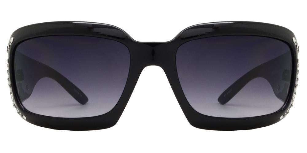 7673 - Rectangular Chunky Sunglasses with Double Pistol Concho - Dynasol Wholesale Sunglasses